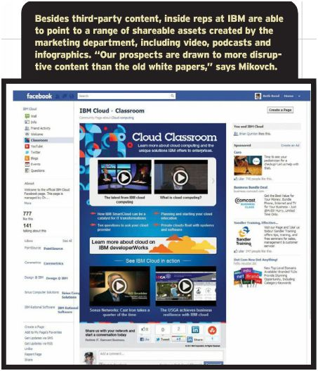 IBM Facebook Page - click to view larger