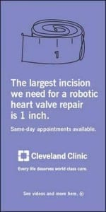 "An ""unadorned"" ad by the Cleveland Clinic"