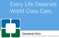 The Cleveland Clinic has 452,000 Facebook fans.
