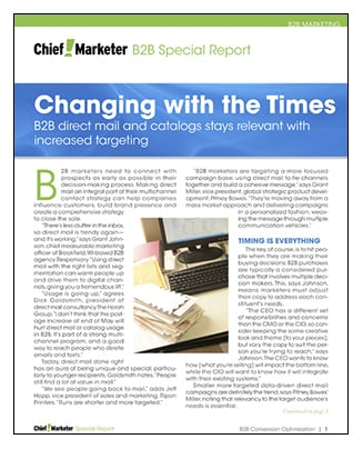 Changing With the Times  Special Report