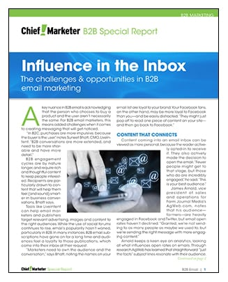 B2B Email Marketing Special Report