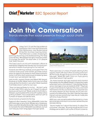 Social Marketing Special Report