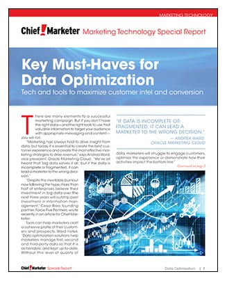 Data Optimization Watch  Special Report