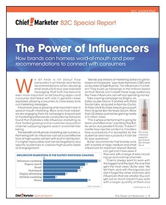The Power of Infuencers Special Report