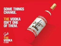 """A new Stoli campaign, sans the word """"Russian."""""""