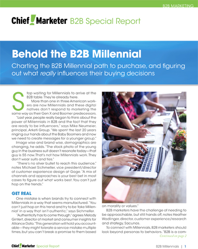 B2B Millennials Special Report