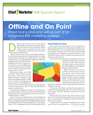 B2B Data Trend Special Report