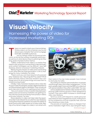 Visual Velocity Special Report