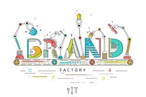 Concept of creating and building brand