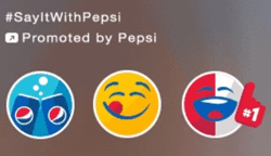 Pepsi Promoted Stickers