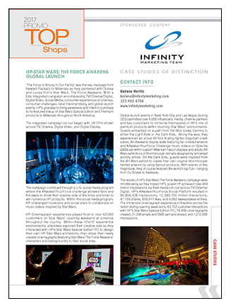 Infinity Marketing Team, Inc. Case Study