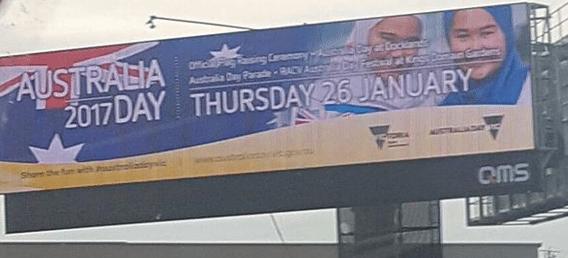 Australian Day Billbaord