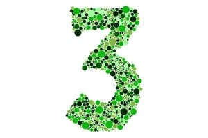 Numbers green alphabet symbols of colorful bubbles or balls