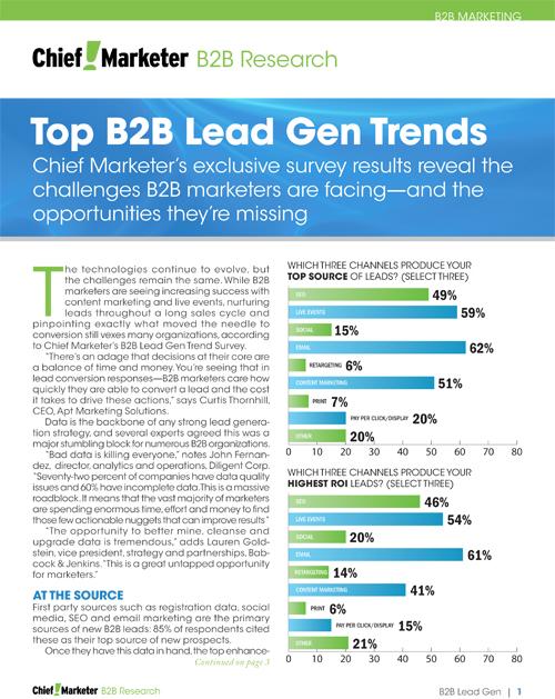 B2B Lead Gen Survey
