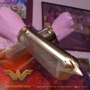 "Wonder Woman fans can create customized versions of her gauntlets using the ""Show Your Warrior"" app."