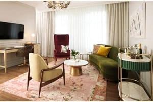 A model West Elm hotel room.