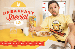"""The """"Breakfast Special"""" shirt was only available until noon."""
