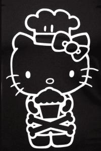 Hello Kitty likes cupcakes too.
