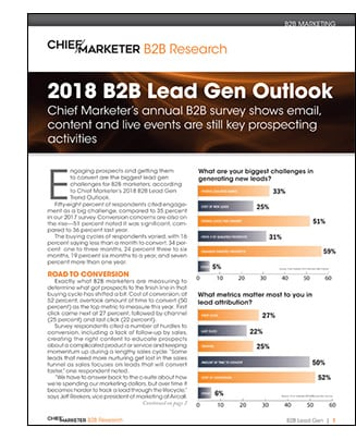 B2B Lead Gen Survey Cover