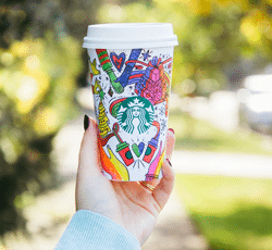 Starbuck's red holiday cups