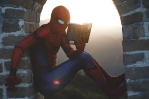 spider-man reading B2B