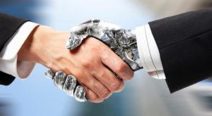 AI robot handshake